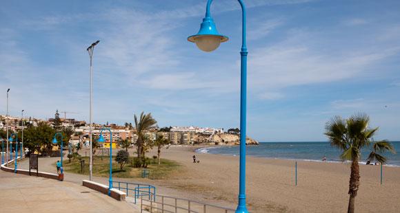 Malaga strand Cala del Moral - vakantie