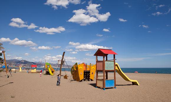 Malaga strand - kinderen- vakantie