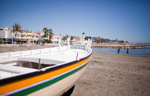 Malaga strand - stranden in Malaga