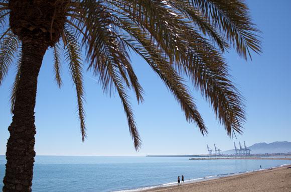 Malaga strand - stranden Malaga