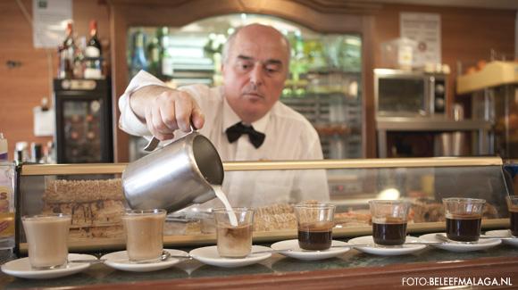 Koffie in Cafe Central Malaga - vakantie Malaga